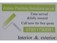 Painter in Newtownabbey & Belfast area. Decorator free estimates. Over 40 years experience