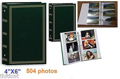 """Photo Album 3 Ring Pocket Hold 504 Photos Storage Case Display Picture Book 4x6"""""""