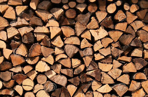 Dry, seasoned hardwood firewood- cut, split, and delivered