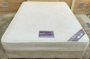 Good condition queen mattress with base for sale#18. Pick up or delive