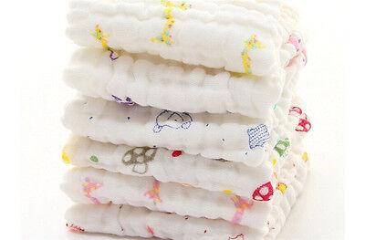Baby Kids Cotton Gauze Towel Towel Wash Cloth Handkerchiefs Feeding SalivaTowelX