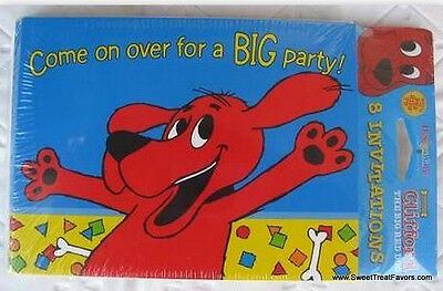 CLIFFORD BIG RED DOG Party INVITATIONS supplies x8 Birthday Invite Decoration NW (Clifford Party Supplies)