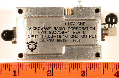 Microwave Source Lo 17.08-19.10 Ghz 8 Dbm - Sma 4x Mult - Unused Qty1
