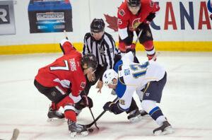 St-Louis Blues @ Ottawa Senators - 4 tickets - Free parking