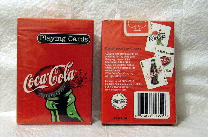 Coca-Cola Bottle Cap Design Playing Cards-MIB 2003