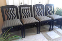 """Dine with Style! 4 Refinished """"Finnline"""" Maple Dining Chairs"""