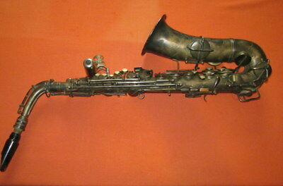 Antique Vintage Cg Conn Ltd  Elkhart Ind  Saxophone Patd  Dec  8  1914