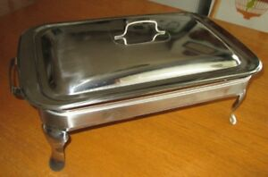Chafer, Glass Chafing Dish, Stainless Steel, 3 Litre, Dinner