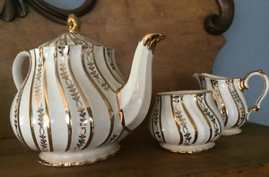 "Vintage English Tea Sets, Susie Cooper ""Patrica Rose"""