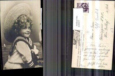 214557,Kind Mädchen m. Matrosenanzug Hut  ()