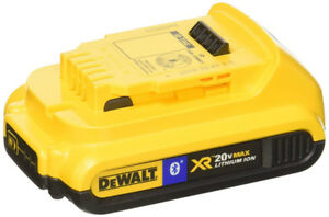 DEWALT XR 20V Li-Ion Battery with Bluetooth, 2.0Ah