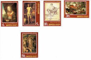 Série de 5 timbres neufs   ART,  HÉRMITAGE, EX-URSS, 1987.