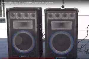 Technical Pro PVRTX-12U USB/MP3/Equilizer PA Speakers