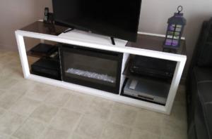 Meuble télévision, audio , foyer électrique