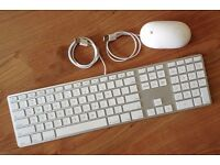 Apple A1243 Aluminium UK Keyboard and A1152 Mouse SUPERB CONDITION
