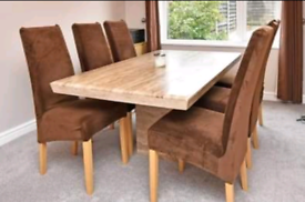 barker and stonehouse travertine dining table