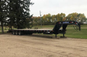 40' Gooseneck Tri-Axle Dually Trailer