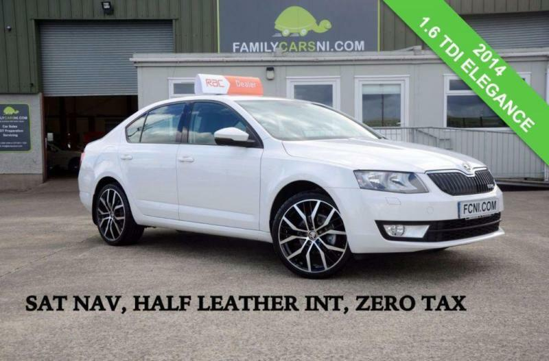 2014 SKODA OCTAVIA 1.6 ELEGANCE TDI CR *SAT NAV,HALF LEATHER,PARKING SENSORS* DI