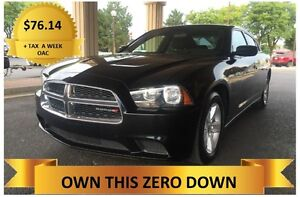 2013 Dodge Charger   ONLY  $76.14 A WEEK + TAX OAC