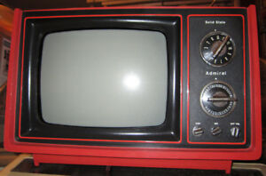 Vintage Admiral 1970's Portable TV