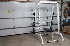 Commercial Grade Half Power Rack + Weights