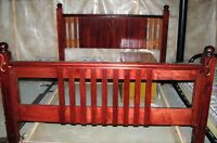 Antique Queen Bedframe - Real Wood