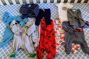Baby Clothes - Like New - 14-piece PERFECT STARTER KIT