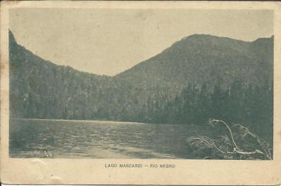 "Argentina PICTORIAL ""Lago Mascardi-Rio Negro"" Postalcard HG:27 Buenos segunda mano  Embacar hacia Argentina"