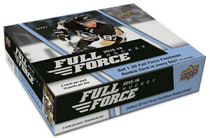 2015-16 Upper Deck Full Force Hockey Trading Cards Box Kitchener / Waterloo Kitchener Area image 1
