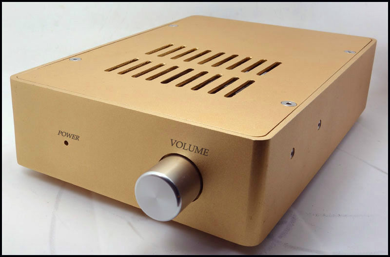 Gold color breeze audio -musical box imitate Malanz HDAM HIFI power amplifier