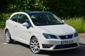 Seat Ibiza 1.2 TSI ( 105ps ) SportCoupe 2014MY FR White. Black Roof.