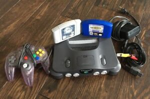 N64 Console with, Atomic Purple Controller, Expansion Pack & 2 G