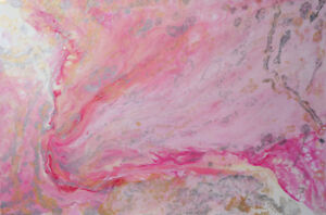 One-of-a-kind Fluid Painting Canvas Large 24x36