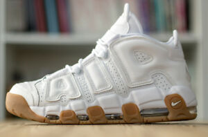 Nike Air More Uptempo: White/White-Bamboo/Gum - Brand New!!!!!!!