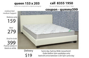Queen Mattress sale, Excellent bed base, king single and double Marrickville Marrickville Area Preview