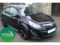 £170.62 PER MONTH BLACK 2014 VAUXHALL CORSA 1.2 LIMITED EDITION 5 DOOR MANUAL