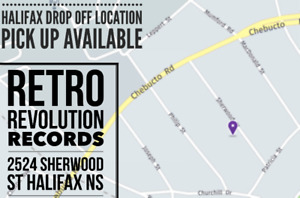 "Drop Off Location - Halifax for "" VINYL LP RECORD COLLECTIONS """