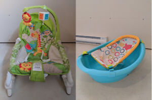 Combo swing chair + baby bathtub