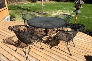 Wrought Iron Patio Table Set For Sale
