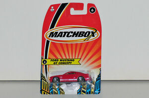 Matchbox Ford Mustang GT Concept 1:64 Scale Diecast, Red