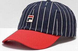 4160b9fc22c FILA Heritage Red   Navy Pinstripe Snapback Hat