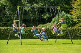 Kids swings (2 swings, 2 seat cradle swing, 2 seat sea saw glider swing)