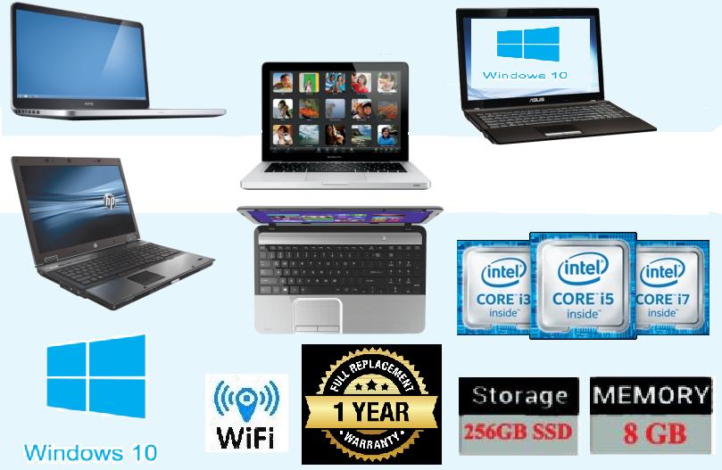 Laptop Windows - CHEAP LAPTOP DUAL CORE / INTEL CORE i3 i5 i7  4GB/8GB RAM 320GB/500GB WINDOWS 10