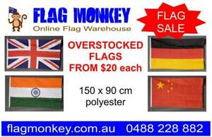 FLAG SALE. OVERSTOCKED. 5x3' / 150 x 90 cm  printed polyester flags Marrickville Marrickville Area Preview