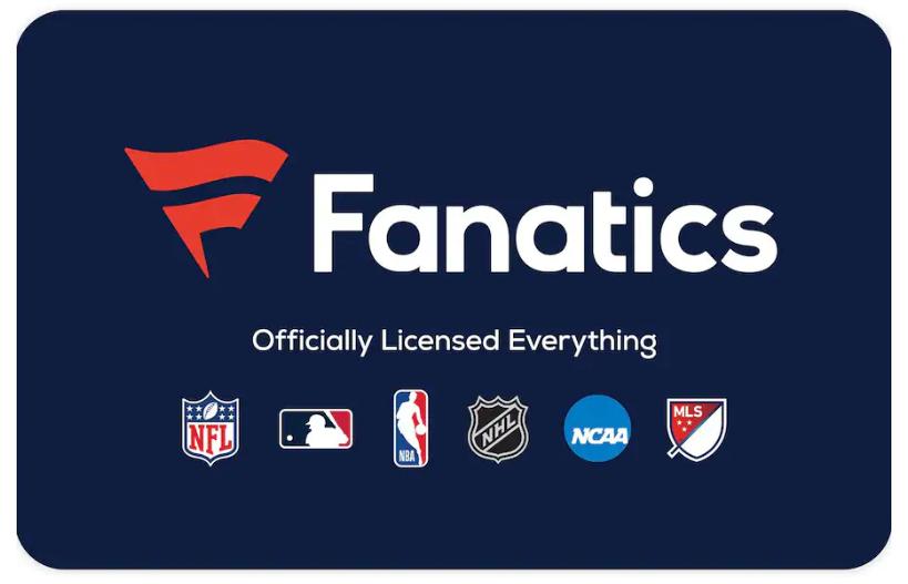 Fanatics 100 Value Gift Cards - $87.00