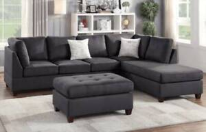 PRICE SLASHED ONE WEEK ONLY! Five Seat Chaise Sofa and FREE Ottoman