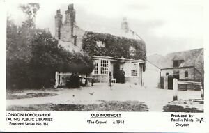 London-Postcard-Old-Northolt-The-Crown-c1914-BT623