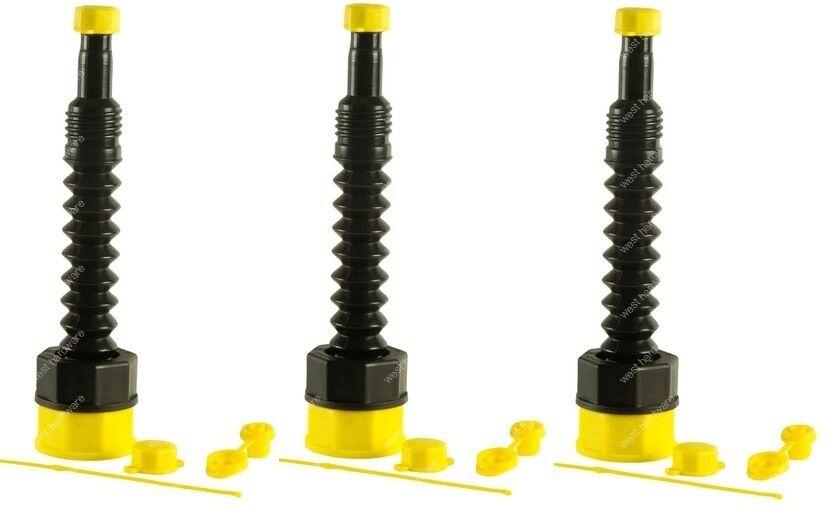 Ez Pour Replacement Gas Can Spout Kit (lot of 3)