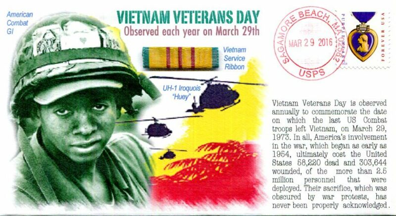 "COVERSCAPE computer designed ""Vietnam Veterans Day"" (March 29) event cover"