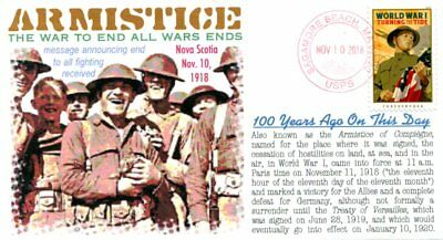 COVERSCAPE computer designed 100th anniversary end of WWI Armistice event cover